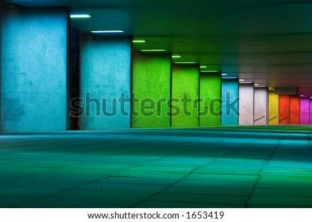 colored tunnel