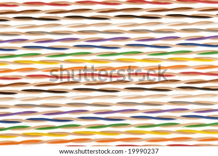 Colored Twisted Pairs of Wire