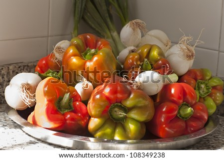 colored vegetables