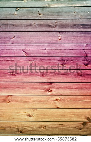 colored vintage wooden planks wall