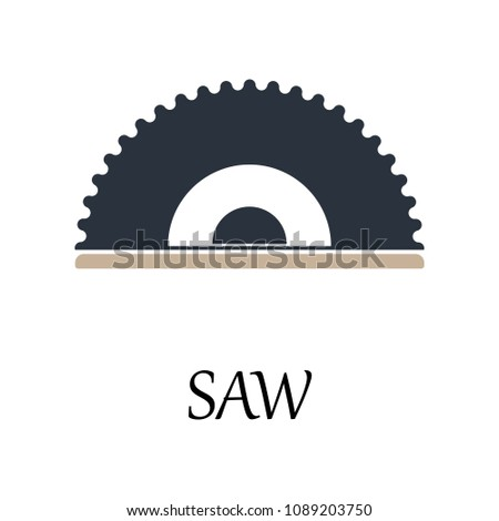 colored wood saw icon. Element of web icon for mobile concept and web apps. Detailed colored wood saw icon can be used for web and mobile. Premium icon on white background