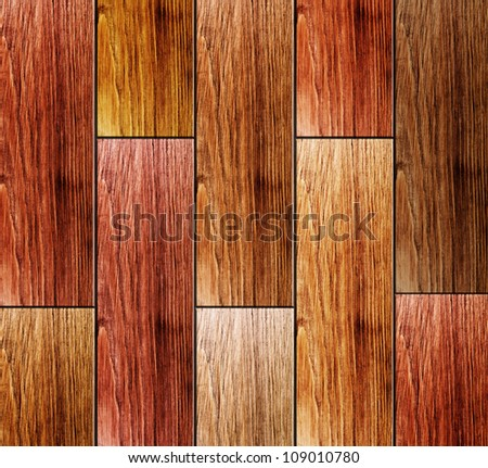 Colored wooden planks background