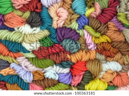 Colored wools texture