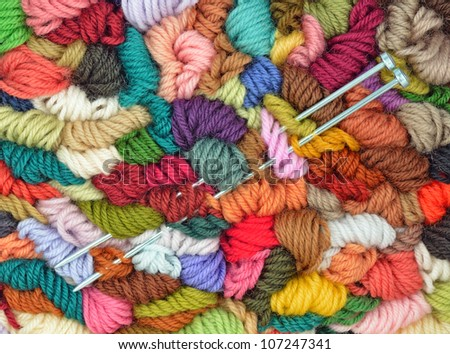 Colored Yarns and Pair Needles