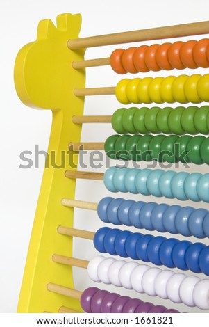 Colorful abacus for children