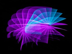Colorful abstract artistic fractal lights