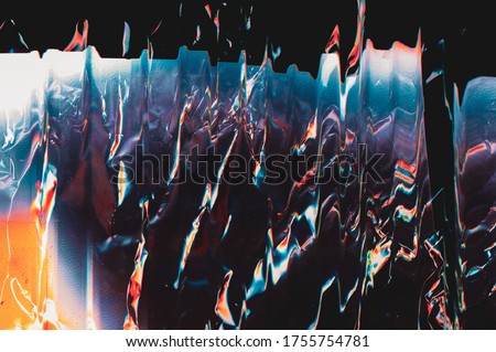 Colorful abstract background. Distortion noise. Blue orange glitch effect. Foto stock ©
