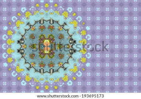 Colorful abstract background kaleidoscope design.