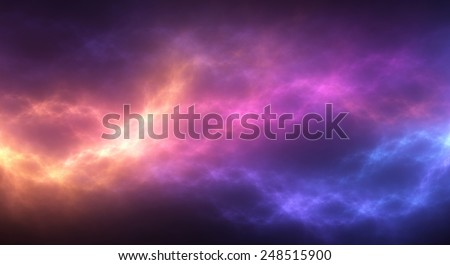 Colorful abstract background: vibrant pattern of flowing light stock photo