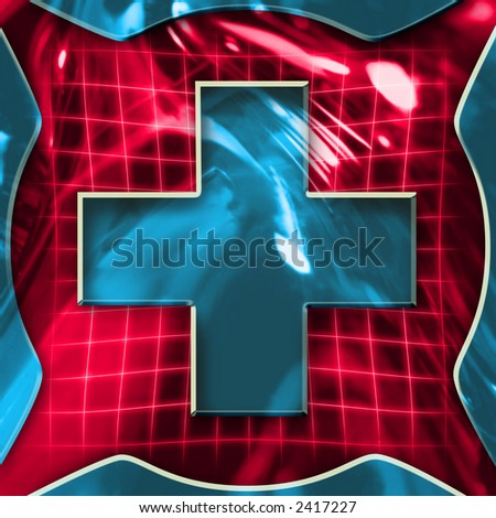 Colorful abstract cross symbol illustration