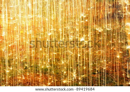 colorful abstract fireworks background on floor