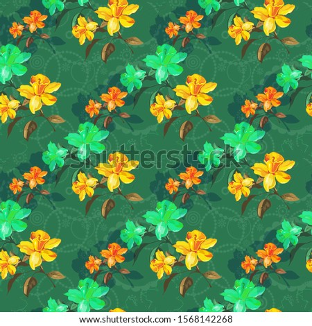 colorful abstract floral Design.Floral design