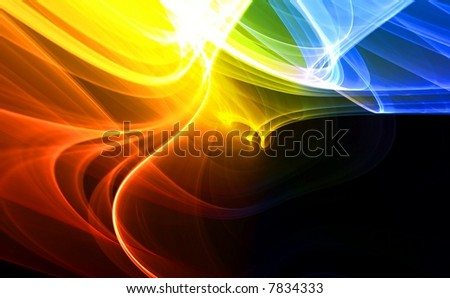 Colorful abstract fractal on black background