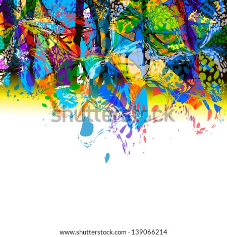 Colorful abstract of paint stains, Raster