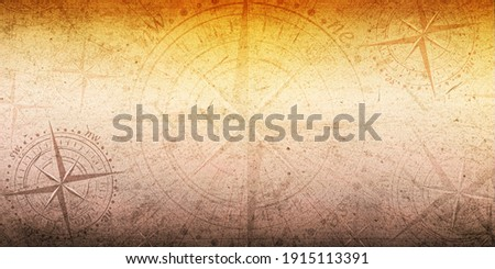 Colorful Abstract old ancient compass with hard texture background wallpaper. multiple compass in different positions with old grunge texture.