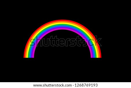 Colorful abstract rainbow light. Royalty high-quality free stock image picture of rainbow colors abstract glowing isolated on dark background for design. illustration rainbow color