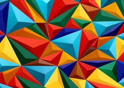 Colorful abstract texture with triangles