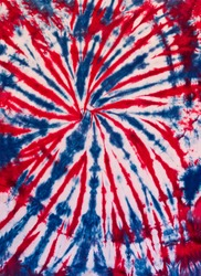 Colorful Abstract Tie Dye Pattern Design Red Blue