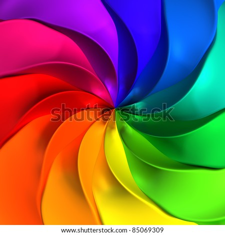 Colorful abstract twisted background