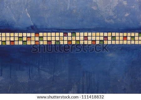 colorful abstract wallpaper as blue and yellow - stock photo