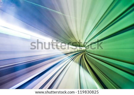 colorful abstract warp with motion blur