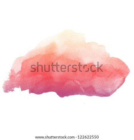 colorful Abstract water color art hand paint on white background