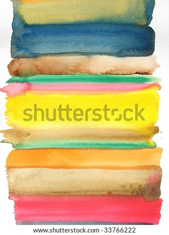 colorful abstract watercolor background brush strokes