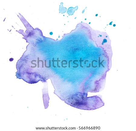 Colorful abstract watercolor texture with splashes and spatters. Modern creative watercolor background for trendy design. - Shutterstock ID 566966890