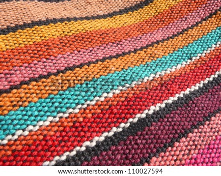 Colorful african, peruvian rug textile. More of this motif & more textiles and backgrounds in my port.