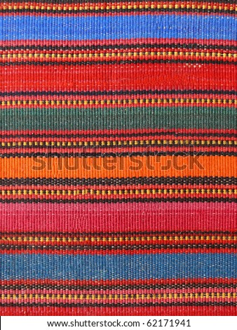 Colorful african peruvian style rug surface close up More of this motif & more textiles in my port