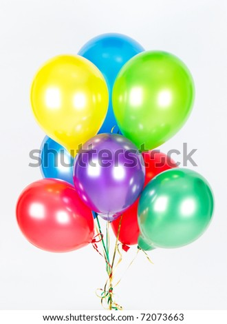 colorful air balloons. party decoration