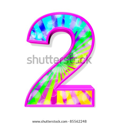 Colorful Alphabet. Number 2 Stock Photo 85562248 ...