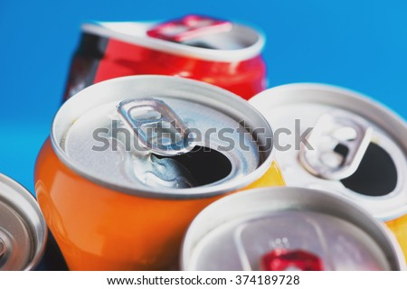 Colorful Aluminum can, recycled doses #374189728