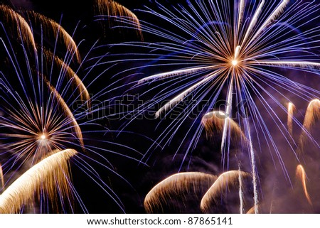 colorful amazing fireworks