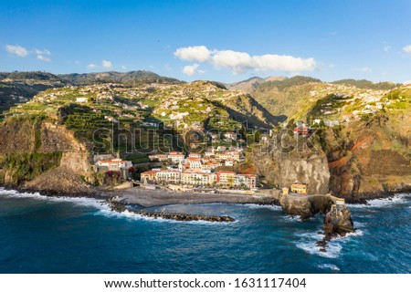 Colorful ancient houses at Ponta do Sol, Madeira, Portugal Foto stock ©