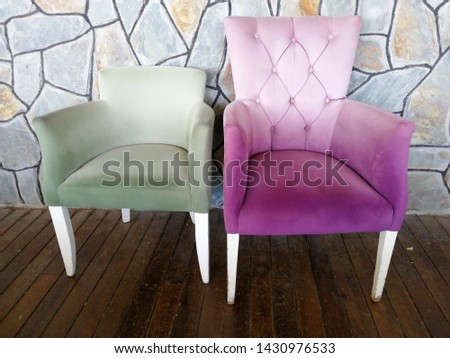 Colorful and comfortable armchair and armchairs