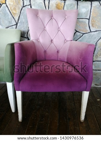 Colorful and comfortable armchair and armchairs #1430976536