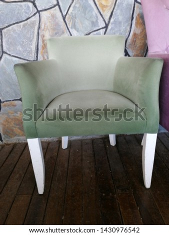 Colorful and comfortable armchair and armchairs #1430976542