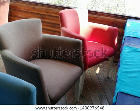 Colorful and comfortable armchair and armchairs #1430976548