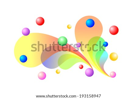 colorful and decorative background made of different elements #193158947