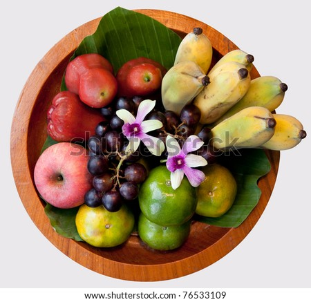 Colorful and healthy Thai fruits