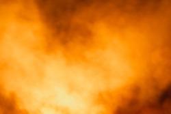 Colorful and realistic orange smoke background
