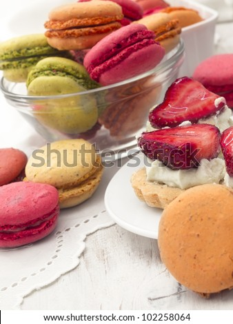 colorful and tasteful macaroons