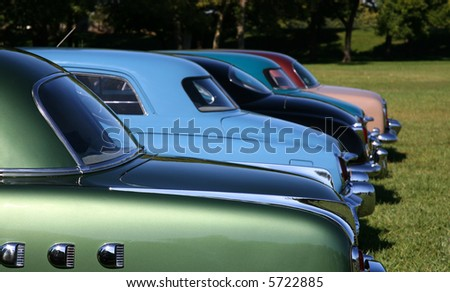 Colorful Antique Cars - stock photo