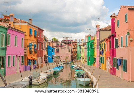 Colorful architectural buildings