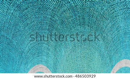 Colorful art decor element style modern pattern for background. Modern futuristic painted wall for backdrop or wallpaper with copy space. Close up image. 16:9 aspect ratio #486503929