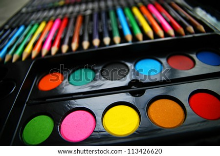 Colorful art palette
