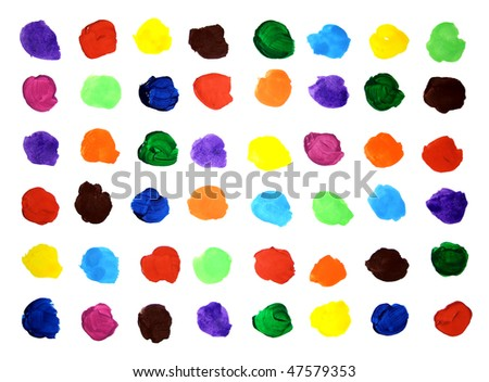 stock photo : Colorful artistic background from artistic paints on white sheet.