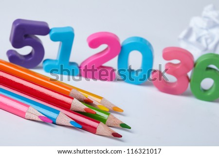 Colorful Assorted Numbers - stock photo