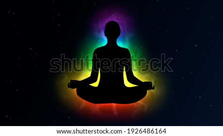 Colorful Aura in Meditation Concept Illustration Сток-фото ©